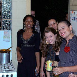 2009.3 Festa junina em São Paulo. Lucila, Lívia, Thaís, Marianne e Marina