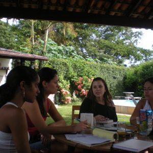 2009 Reunião de planejamento Marianne, Mariana, Veronika e Erika