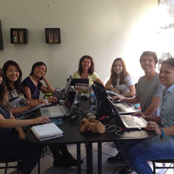 2013 Reunião da nossa super equipe no escritório em BH Bela, May, Beca, Jú, MM, Gabs e Mari