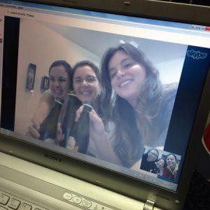 2014.15 Três em BH e três em SP é igual a happy hour integrado pelo skype