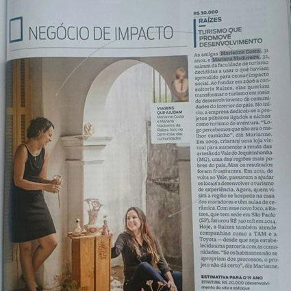 2015.1 As sócias fundadoras são destaque na revista PEGN janeiro
