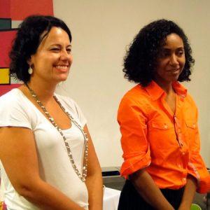 Marianne e Lucila em evento da Rede Mulher Empreendedora